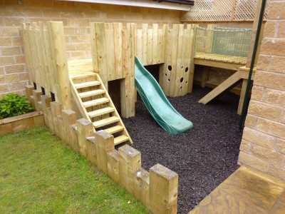 Castle Climbing Frame with Slide