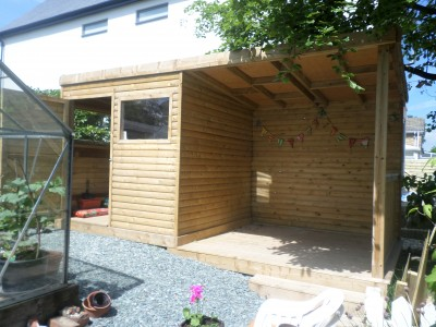 Storage Shed inc Seating Area