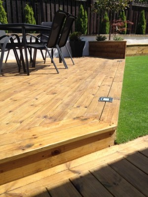 Decking with Solar Lighting